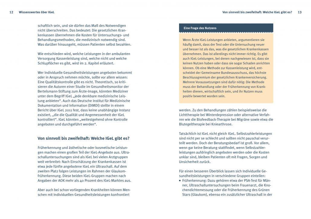 6b5eec7c0d IGeL-Angebote beim Arzt, Verbraucherzentrale, 148,5 x 210 mm, 200 S.  Gestaltung   Layout   Satz & Reinzeichnung   Litho & Proofs